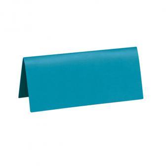 Einfarbige Tischkarten 10er Pack-türkis