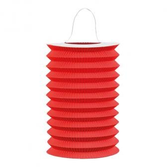 Einfarbige Laterne 16 cm -rot