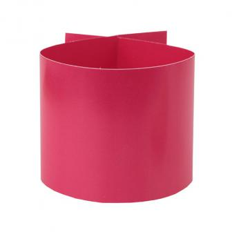 Einfarbige Papp-Serviettenringe 6er Pack-pink