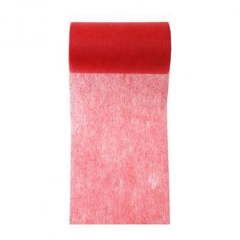 Einfarbiges Deko-Vlies Tischband 10 m-rot