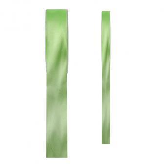 Einfarbiges Satin Deko-Band-grün-15 mm