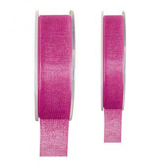 Einfarbiges Organza Deko-Band-pink-15 mm