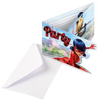 """Einladungskarten """"Miraculous"""" inkl. Umschlägen 8er Pack"""