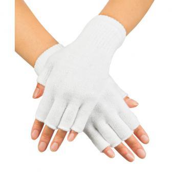 Fingerlose Handschuhe-weiß