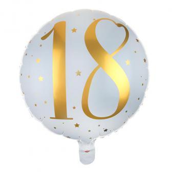 "Folien-Ballon 18. Geburtstag ""Golden Times"" 45 cm"