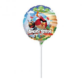 """Folien-Ballon """"Angry Birds"""" 18 cm"""
