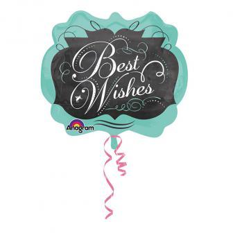 """Folien-Ballon """"Best Wishes"""" 63 x 55 cm"""
