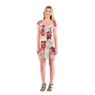 "Fotorealistisches Mini-Kleid ""Zombie-Braut"""
