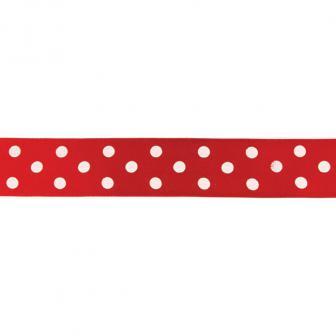 Gepunktetes Geschenkband 100 cm-rot