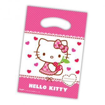 """Geschenk-Tütchen """"Hello Kitty"""" 6er Pack"""