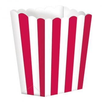 Gestreifte Snack-Boxen 5er Pack-rot