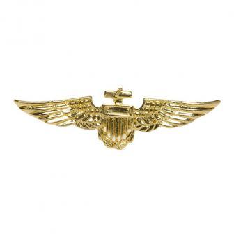 Goldene Piloten Anstecknadel