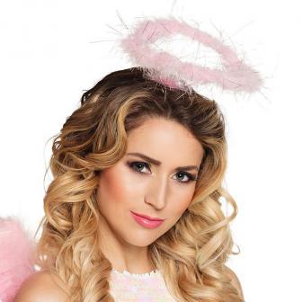 Haarreif mit rosa Heiligenschein