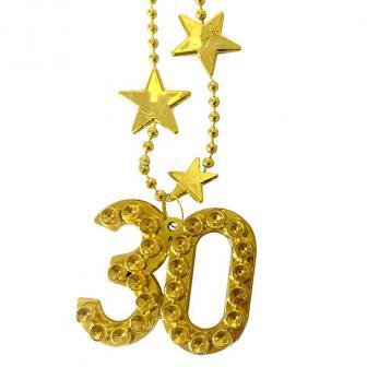 """Halskette """"Star des Tages"""" 30. Geburtstag 44 cm"""