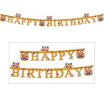 "Happy Birthday-Girlande ""Lustiger Clown"" 170 cm"