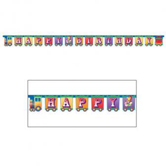 "Happy Birthday-Girlande ""Zirkus-Manege"" 252 cm"