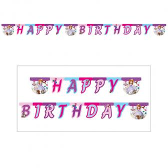 "Happy-Birthday-Girlande ""Sofia die Erste"" 190 cm"