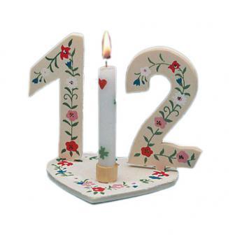 Holz-Kerzenständer für Geburtstagszahlen