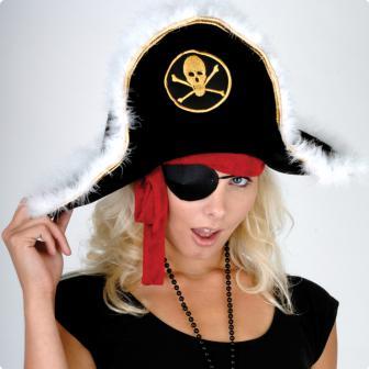 Hut Piratenkapitän Plüsch-Kinder