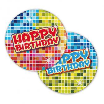 """Kleine Pappteller """"Happy Crazy Birthday"""" 6er Pack"""