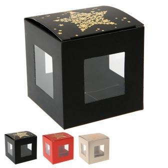 """Kleine Geschenk-Boxen """"Funkelnde Schneekristalle"""" 4er Pack"""