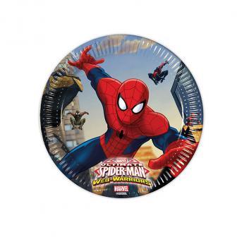 """Kleine Pappteller """"Spiderman - Web Warriors"""" 8er Pack"""