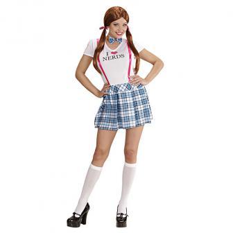 """Kostüm """"College Girl Nerd"""" 2-tlg."""