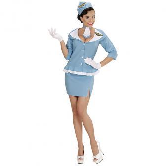 "Kostüm ""Flugbegleiterin"" 4-tlg."