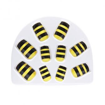 """Künstliche Fingernägel """"Biene"""" 24-tlg."""