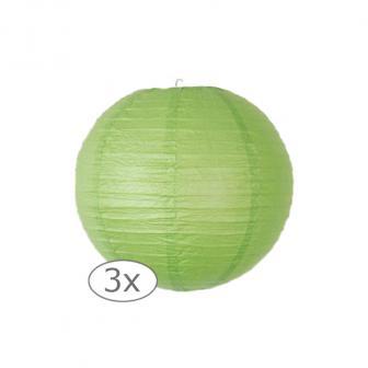 Einfarbige Lampions 3er Pack-25-cm-grün