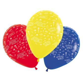 """Luftballons """"Schulanfang"""" 5er Pack"""