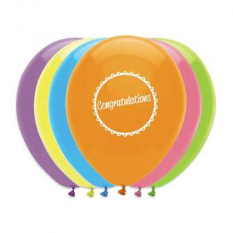 """Luftballons """"Congratulations"""" 6er Pack"""