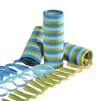 Luftschlangen Party in Blau und Grün 2er Pack