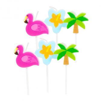 """Mini-Figurenkerzen """"Tropical Party"""" 6er Pack"""