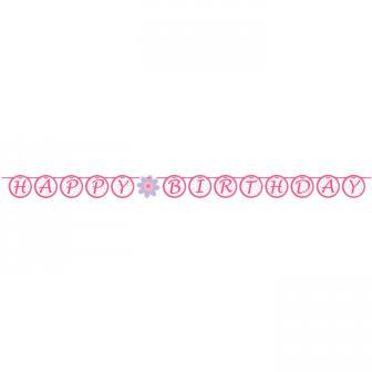 "Girlande Happy Birthday ""Ballerina"" 167 cm"