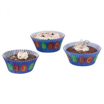 """Muffin- und Cupcake-Förmchen """"Abc-Schützen"""" 48er Pack"""