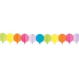 """Papier-Girlande """"Bunte Luftballons"""" 4 m"""