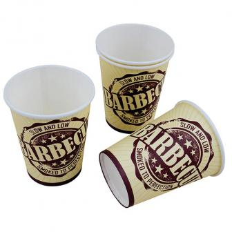"""Pappbecher """"Barbecue-Party"""" 8er Pack"""