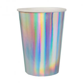 """Pappbecher """"Holographic"""" 10er Pack"""