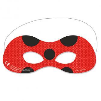 Pappmasken Miraculous - Ladybugs Abenteuer 6er Pack