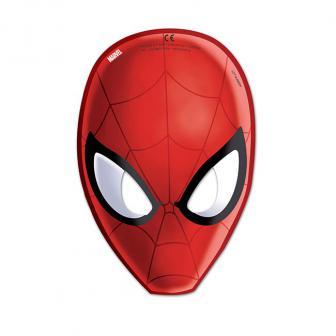 """Pappmasken """"Spiderman - Web Warriors"""" 6er Pack"""