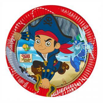 """Pappteller """"Captain Jake & die Nimmerland Piraten"""" 8er Pack"""
