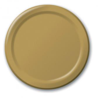 Pappteller 24er Pack-gold