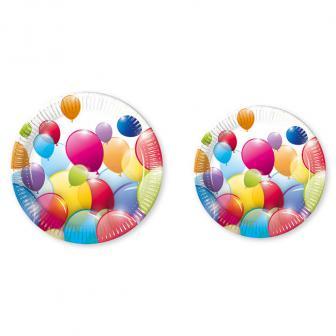 """Pappteller """"Luftballon Paradies"""" 10er Pack"""