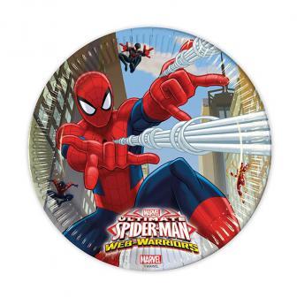 "Pappteller ""Spiderman - Web Warriors"" 8er Pack"