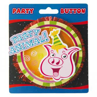 Party-Button 3D Party Animal 11 cm