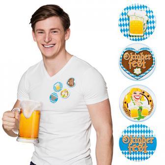 """Party-Buttons """"Oktoberfest"""" 4er Set"""