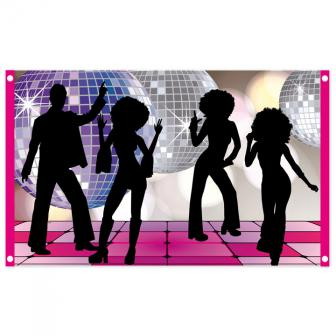 "Stoff-Banner ""Disco Night"" 150 x 90 cm"