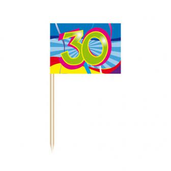 "Party-Picker 30. Geburtstag ""Partyspaß"" 50er Pack"