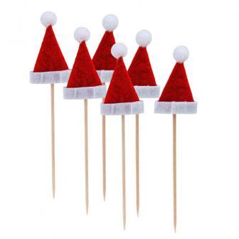 """Party-Picker """"Weihnachtsmütze"""" 6er Pack"""